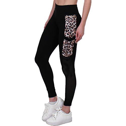 Jessica Simpson The Warm Up Womens Yoga Side Pocket Athletic Leggings Black S