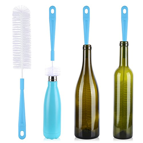 Bottle Brush - 16 inch Long Bottle Cleaning Brush for Beer Bottle - Water Bottle Cleaner for Washing Thermos Hydroflask S'Well Simple Modern Narrow Neck Sport Bottles Kombucha Beer Wine Decanter and Jugs
