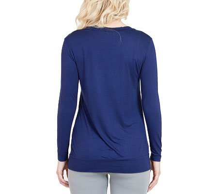 Agiato Women's Boyfriend Style Button Front Cardigan azul marino