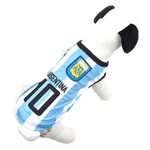 Alfie Pet by Petoga Couture - Ezra Soccer Jersey - Color: Argentina, Size: Medium
