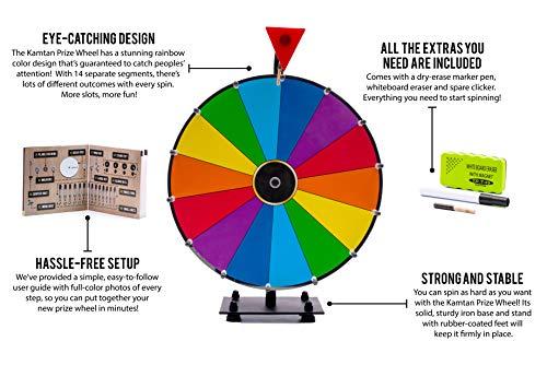 Kamtan Spinning Prize Wheel - Balanced Spin and Sturdy Iron
