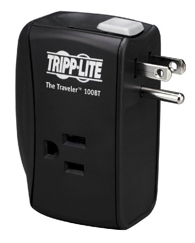 Plus 6 Outlet Surge Protector - Tripp Lite 2 Outlet Portable Surge Protector Power Strip, Direct Plug In, Tel/Ethernet Protection, & $50,000 INSURANCE (TRAVELER100BT)