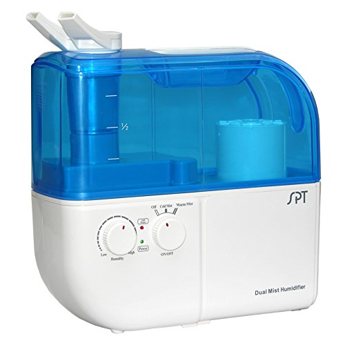 SPT SU-4010 Ultrasonic Dual-Mist Warm/Cool Humidifier with Ion Exchange Filter - Blue by Sunpentown
