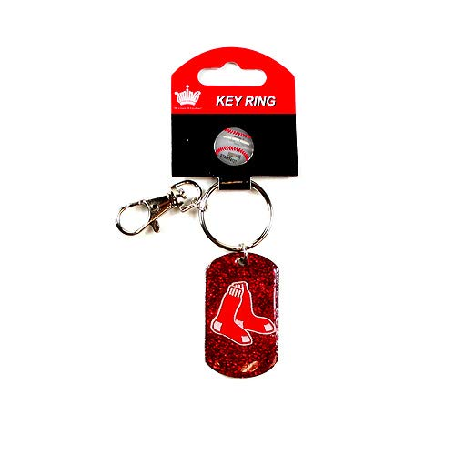 AM Red Sox Key Ring Glitter Style Key Chain