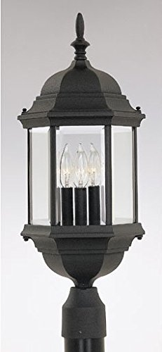Designers Fountain 2986-BK Devonshire Post Lanterns, Black
