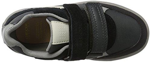 Geox J Arzach a, Zapatillas para Niños Gris (Dk Grey/black)