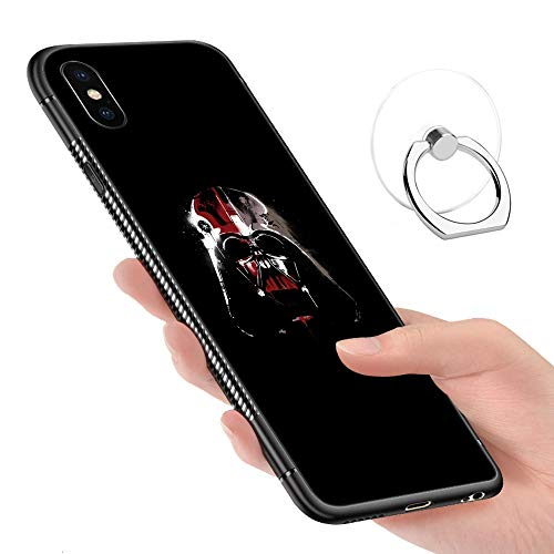 iPhone XR Case,Tempered Glass Pattern Painted Imperial Graffiti Bumper Cover for iPhone ()