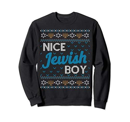 Funny Ugly Hanukkah Sweater Nice Jewish Boy Matching