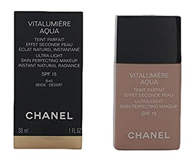 Chanel - Vitalumiere Aqua Ultra Light Skin Perfecting Make Up SFP 15 - # 40 Beige - 30ml/1oz