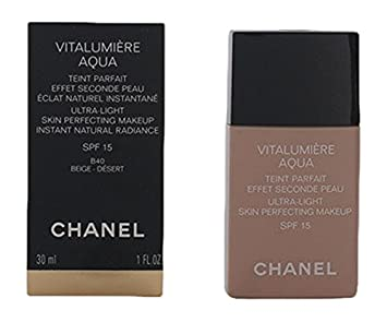 chanel vitalumiere aqua. chanel vitalumiere aqua ultra light skin perfecting makeup spf 15 - 30 ml, no.