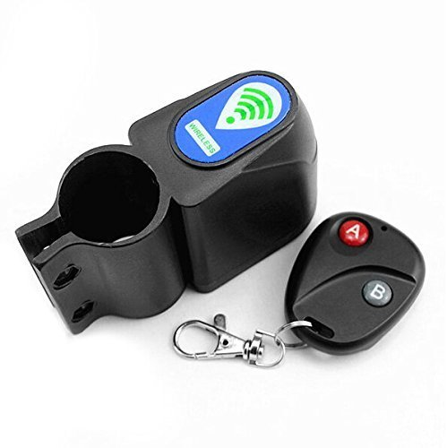 Wireless Remote Control Bike Bicycle Alarm Siren Shock Vibration Sensor Cycling Lock Guard Burglar Alarm