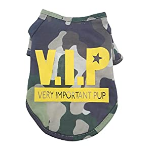 Mainstreet Dog Shirts Pet Shirts Dog T-shirt Puppy T Shirt Dog Vest Puppy Vest Pet Clothing Puppies Clothes for Small Dogs Doggie Cool Camo Style in Spring Summer XS/S/M