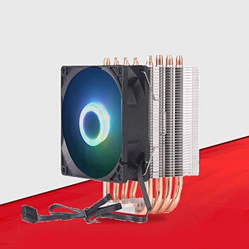 Semoic 9Cm 3 Heat Pipe 4 Pin Single Fan Without Light CPU Fan CPU Heatsink for Intel 775//1150//1155//1156//1366 for ADM All