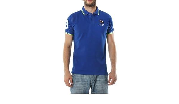 Polo FRANK FERRY Homme ff62 bleu - -: Amazon.es: Ropa y accesorios