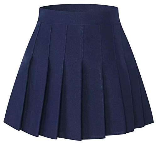 Uniform Pleated Skort - SANGTREE Pleated School Uniform Cosplay Costume Skort Skirt for Toddlersm Little & Big Girls, Navy, 10-11 Years/Height 59.1
