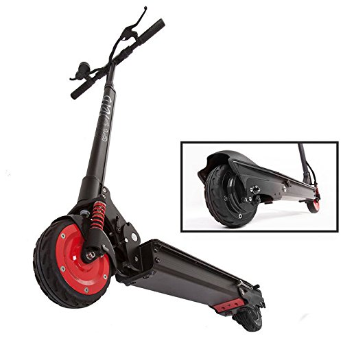 EcoReco M5 Electric Scooter - Black/Red