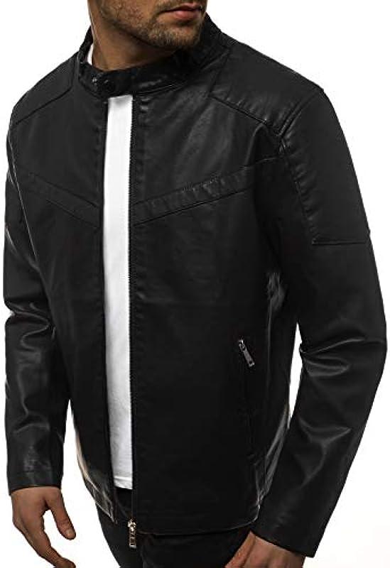 OZONEE JB/JP1128 męska kurtka skÓrzana, sztuczna skÓra: Odzież