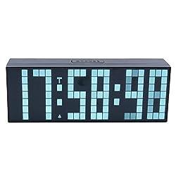 ZJchao Large Big Number Jumbo LED Snooze Wall Desk Alarm Clock Countdown Clock (White, 6-digit)