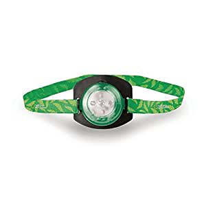 Life Gear National Geographic Green Kids Headlamp, High, Low, Red Glow & Red Flasher Modes - Batteries Included, Adjustable strap