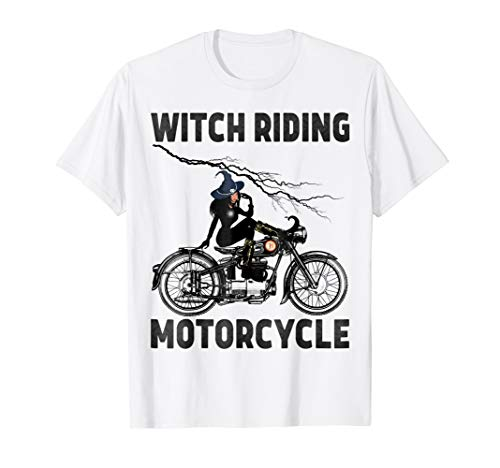 Funny Witch Riding Motorcycle. Halloween costumes Hallo ween -