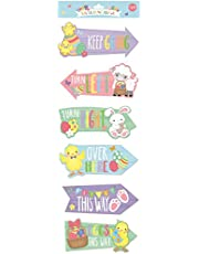 CONCEPT4U® 15 Easter Hunt Arrows Kids Party Home Decoration Garden Egg Game Fun Family Sign Directions Maps Rabbit Bunny Chick