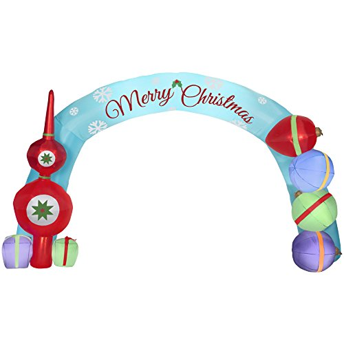 CHRISTMAS INFLATABLE GIANT 18' MERRY CHRISTMAS ORNAMENT ARCHWAY W/ GIFTS BY GEMMY (Buy Outdoor Christmas Decorations)