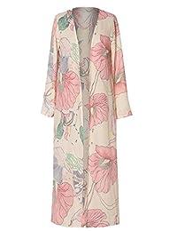 FLCH+YIGE - Kimono para Mujer con Estampado Floral