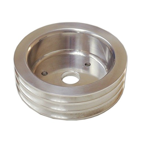 3 Groove Aluminum Crankshaft Pulley SWP Short Water Pump For SBC Chevy 350 (Aluminum Pulley Chevy)