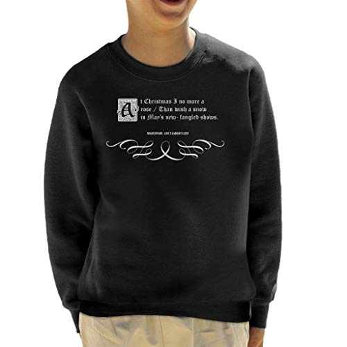 Loves Labours Lost Shakespeare Christmas Quote Kid's Sweatshirt