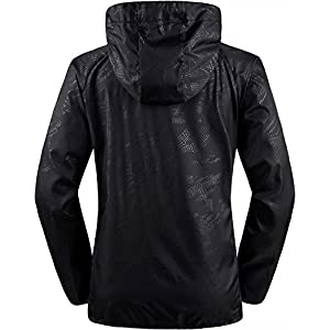Wantdo Women's Black Skin Coat Sun Protective Running Jacket,Black US XL