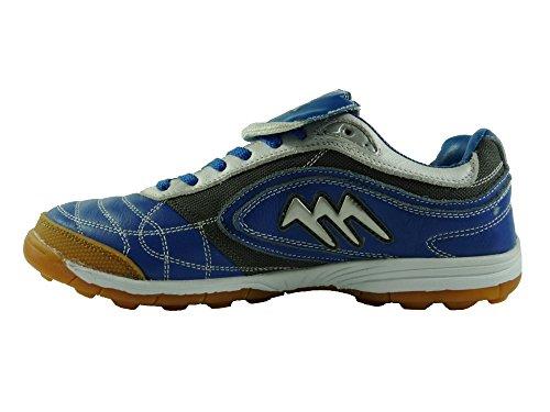 AGLA - Zapatillas de fútbol sala de Piel para hombre Media Royal/Black