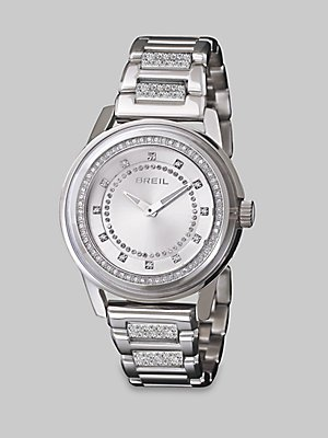 Breil Swarovski Crystal Accented Stainless Steel Watch - Silver
