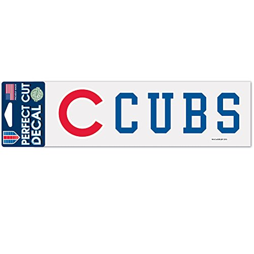 WinCraft MLB Chicago Cubs WCR40321015 Perfect Cut Decals, 3