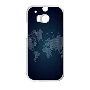dark map personalized high quality cell phone case for HTC M8 by mcsharksby Maris's Diary