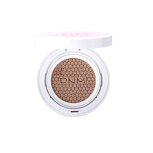 Chezaa DNM Brightening Face Concealer Foundation Double Natural Moisturizing Oil Control Cushion CC Cream, Long-Lasting Waterproof Not Blooming, 0.5 oz (B)