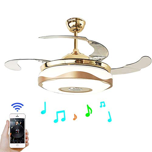 42 Modern Bluetooth Ceiling Fan Light Remote Music: Car LED Interior Lights,Vexverm 4pcs 48 LED Bluetooth App