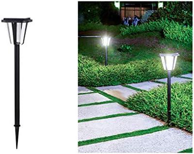 ATO ROMX Luces Solares para Jardín, Luces Solares para Senderos Luces De Estaca para Exteriores Luces Solares para Jardín, Blanco Frío, 1 Paquete, Negro: Amazon.es: Hogar