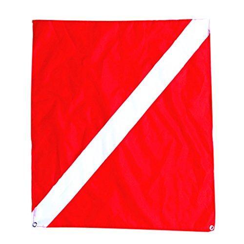 White Dive Flag - MagiDeal Nylon Diver-Down Boat Flag, Red & White Scuba Dive Flag Marker Banner 20x24