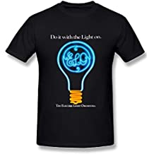Damilosye Men's Electric Light Orchestra ELO Logo Fashion T Shirt