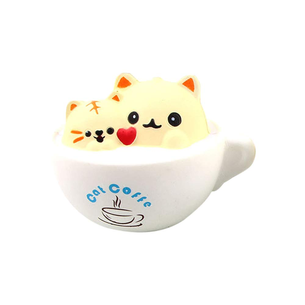 BBTshop Lovely Stress Reliever Cup cat patternSuper Slow Rising Kids Squeeze Toys