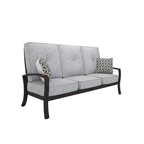 Signature Design by Ashley P414-838 Patio Outdoor Sofa, Castle Island, Gray
