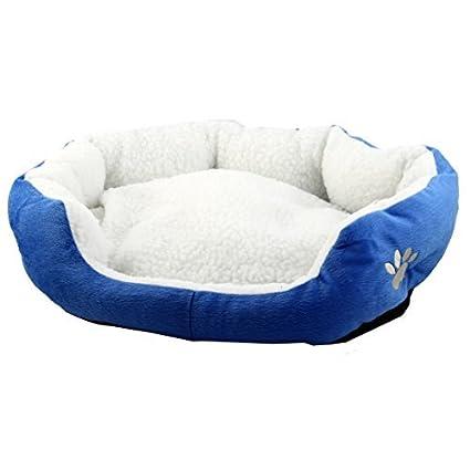 eDealMax Felpa mascotas Oval del gato Forma de cojín extraíble cueva cama del perro de anidamiento