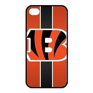 Cincinnati Bengals Personalized Boutique Brilliant Iphone 4 Or 4S Best Rubber+PC Case By Cinderella Magic