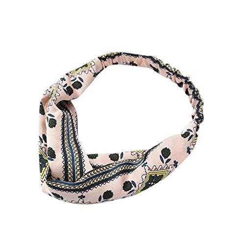 TIFENNY Cross Elastic Headband Floral Knot Headbands Wrap Turban Hair Band Yoga Sports Hairbands Head Hoop