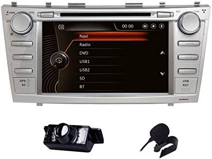 Vicmax Car stereo Toyota Camry 2006-2011 2 Din In Dash Head Unit Car GPS Navigation MAP AM FM Radio DVD CD Player Bluetooth USB SD 3G DVR CAM-IN