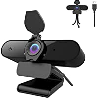 Webcam 1440P mit Mikrofon, 2K Full HD PC Web-Kamera mit automatischer Lichtkorrektur, 115° Sichtfeld, USB 2.0 Plug & Play...