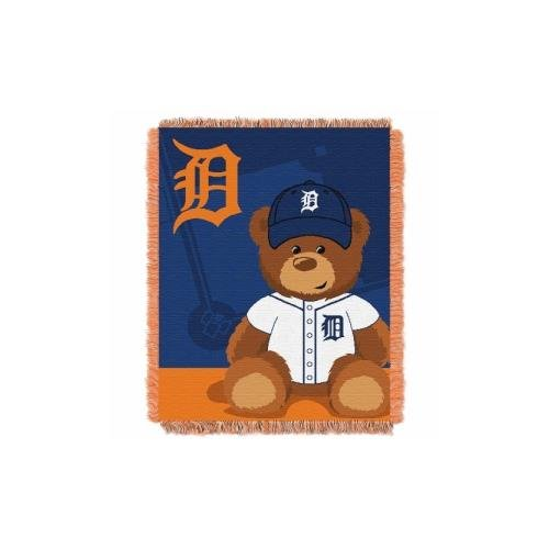 MLB Detroit Tigers Field Bear Woven Jacquard Baby Throw, 36