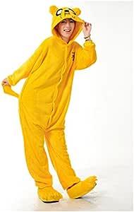 Adulto Unisexo Adventure King Jake el perro Finn el humano onesie Fiesta Disfraz de Kigurumi Con Capucha PIJAMA Sudadera Ropa Para Dormir regalo de Navidad Jake el perro, XL height 180cm-190cm