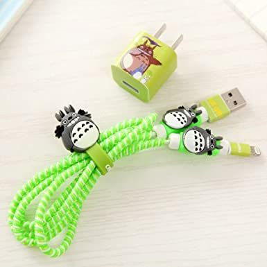 Tospania Diy Protectors For I Phone4/5/6/7 Lightning Cable And Usb Charger (My Neighbor Totoro) by Tospania
