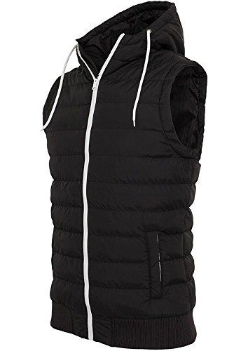 tb510Small Bubble Hooded Vest Gilet duvet noir Noir/blanc Taille XL
